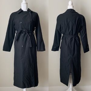 London Fog black trench coat